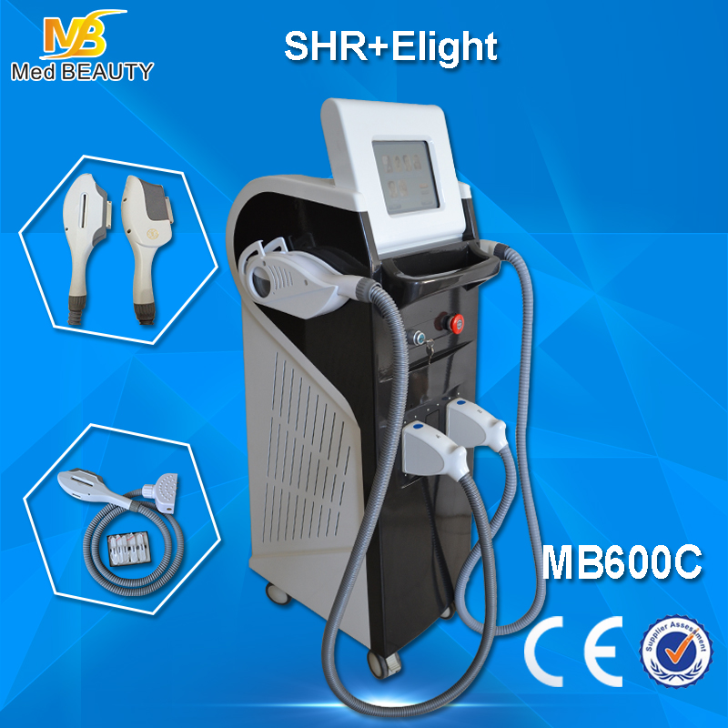 3000W AFT SHR Golden Shr Hair Removal Machine 10MHZ 0.1-9.9ms With Ce