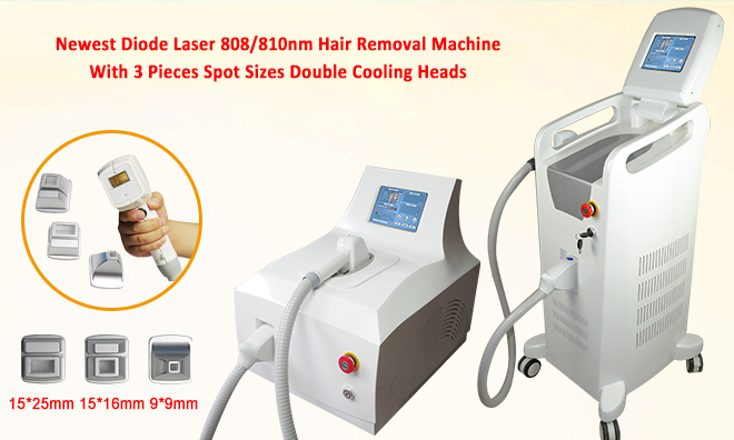 Continuous Wave 810nm Diode Laser Hair Removal Portable Machine Air Cooling
